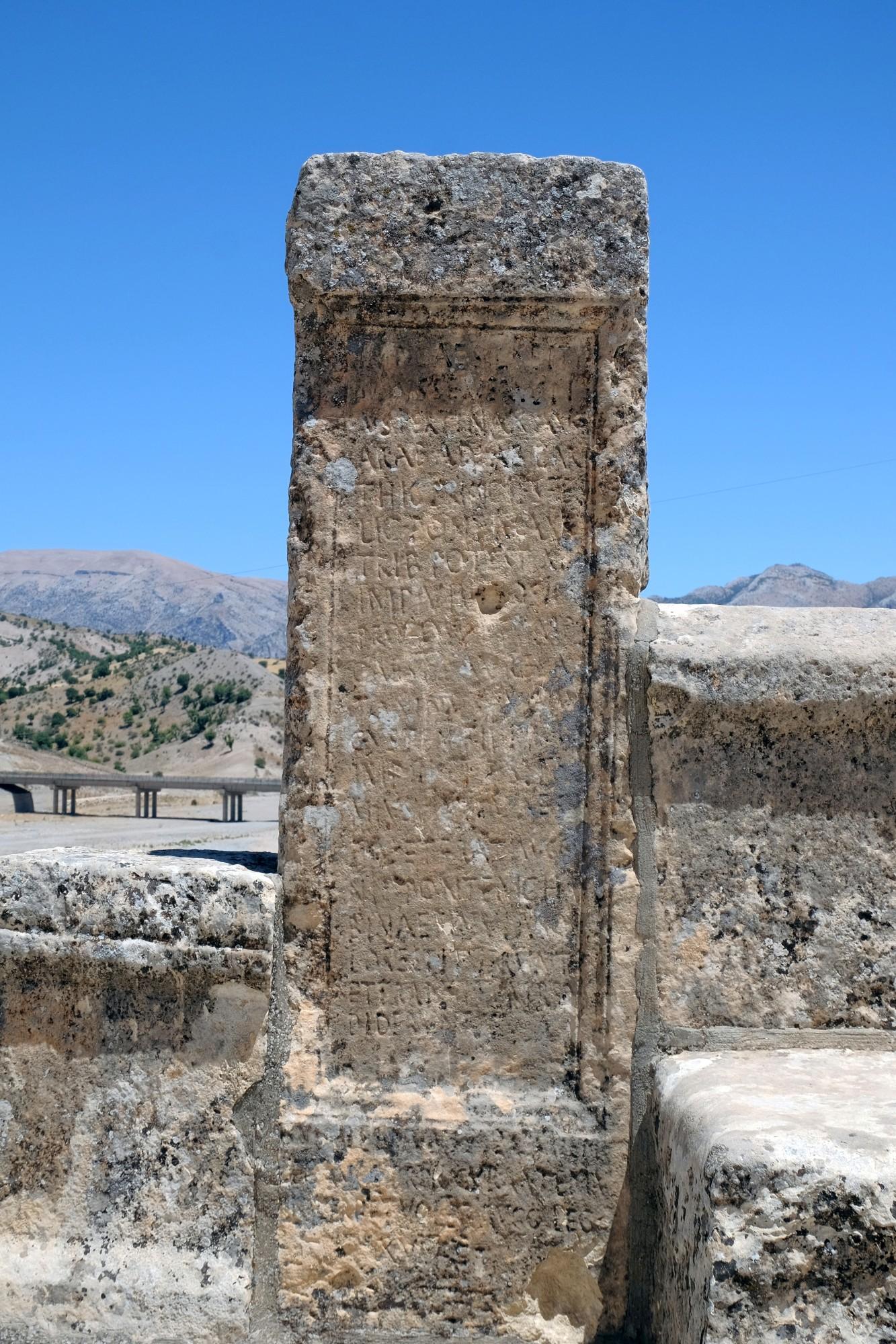 Inskrypcja na moście Septymiusza Sewera - wersja druga