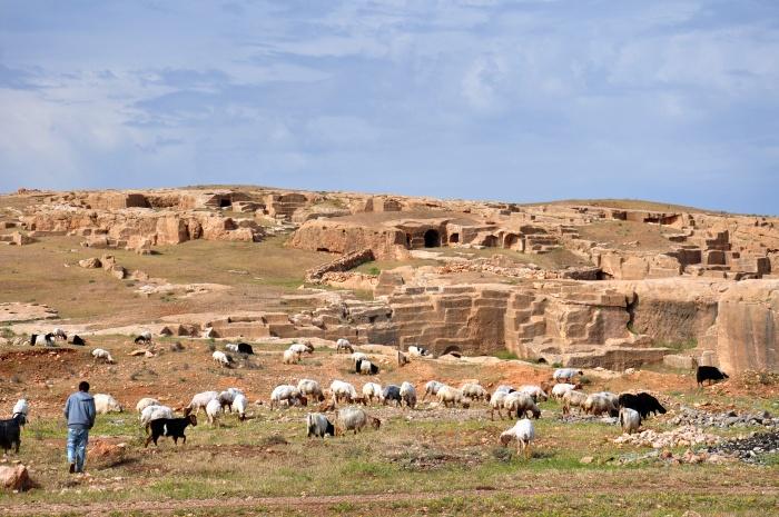 Widok z drogi dojazdowej do nekropolii w Darze