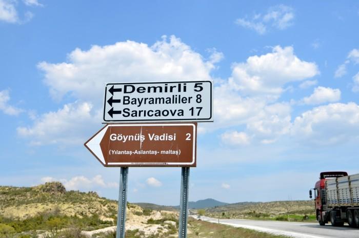 Kierunkowskaz do doliny Göynüş