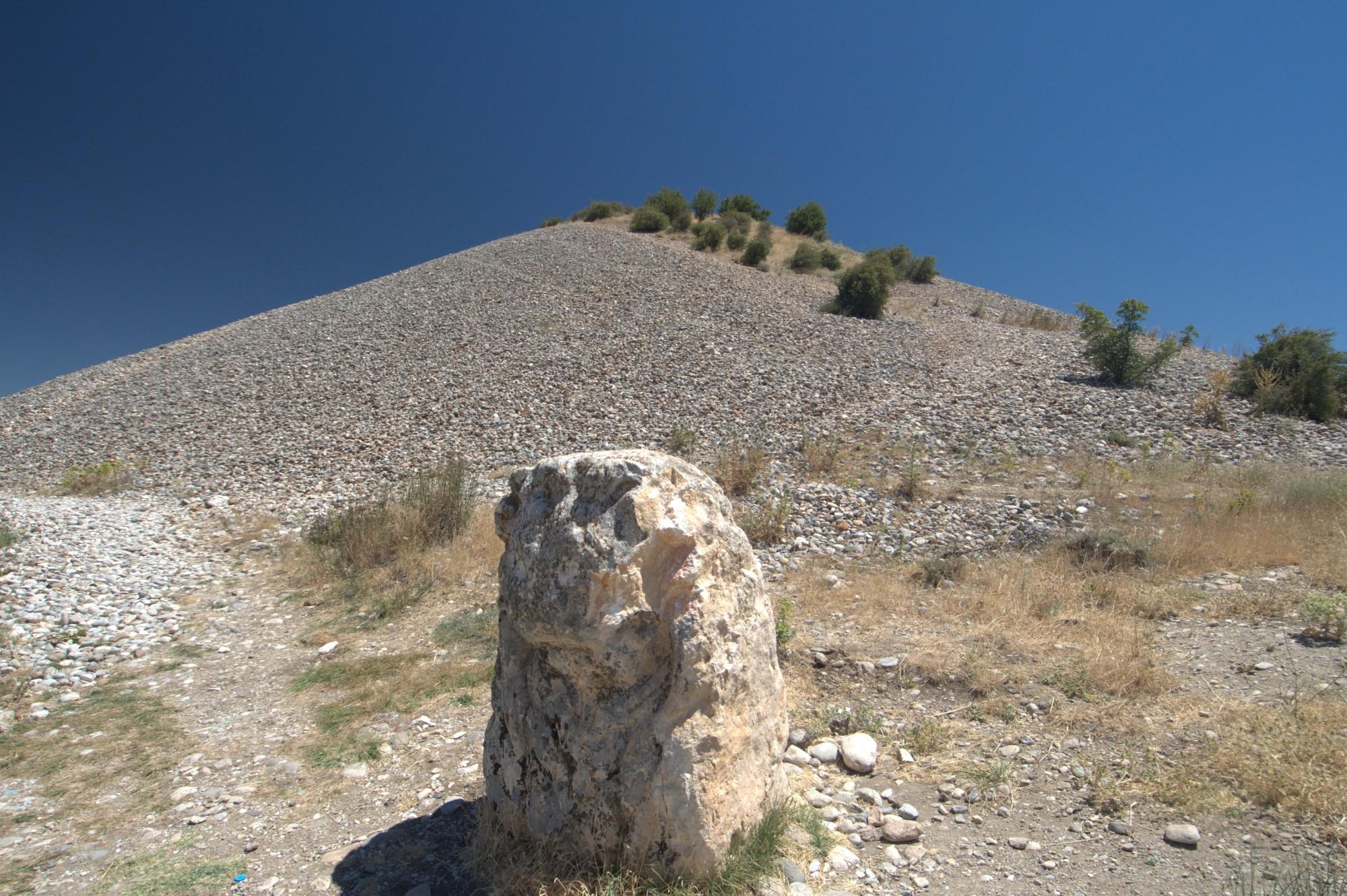 Tumulus Karakuş - głowa lwa