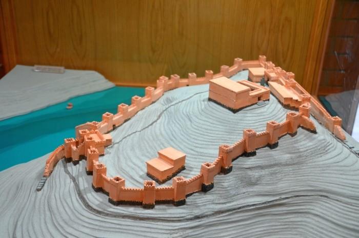 Miniaturowy model twierdzy Karatepe