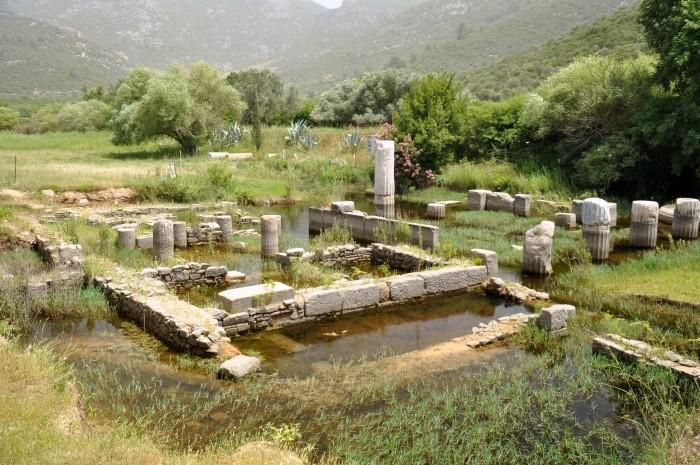 Ruiny sanktuarium w Klaros