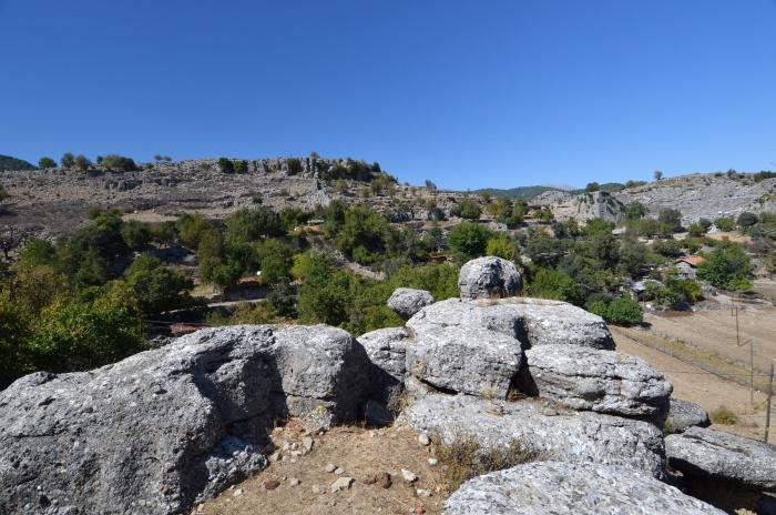 Widok z akropolu w Selge
