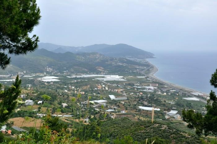 Widok na wybrzeże Morza Śródziemnego