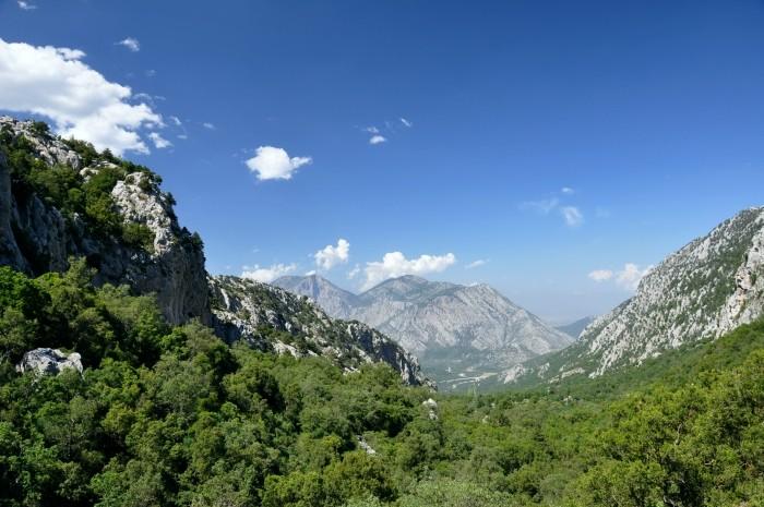 Góry Taurus widziane z Termessos
