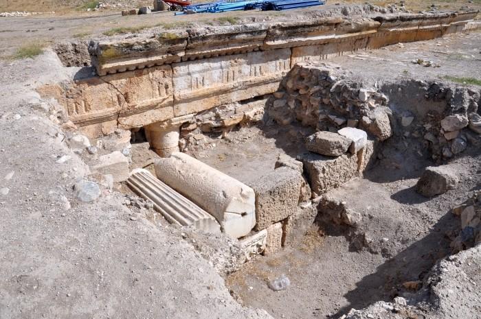 Odsłonięty przez archeologów fragment miasta Tripolis