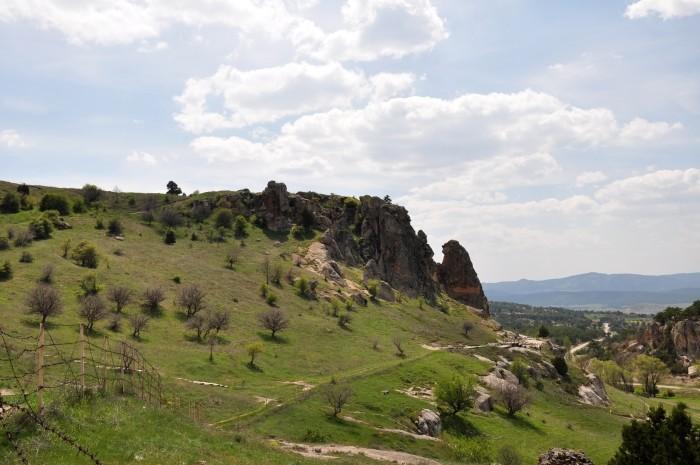 Widok na akropol w Yazılıkaya