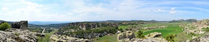 Widok panoramiczny z akropolu w Yazılıkaya