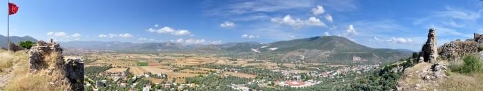 Widok z zamku Beçin